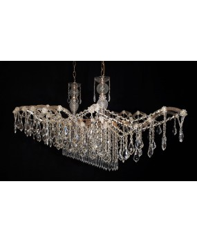 Maria Theresa 14- light oval chandelier